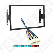 95-7417 Double Din Radio Install Dash Kit & Wires for Nissan, Car Stereo Mount