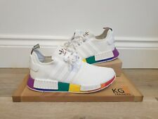 Adidas NMD R1 pride Size 10 UK FY9024 White Multi Coloured