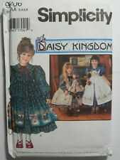 Dress Pinafore & Doll Clothes 3 4 5 6 Sewing Pattern Simplicity 9706 UC Modest