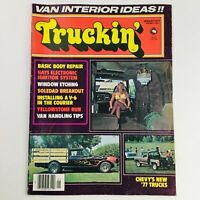 Truckin' Magazine January 1977 Vol 3 #1 Basic Body Repair & Van Handling Tips