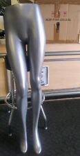 Female Mannequin Legs Form Display Silver Look Lower Body 45 With Stand
