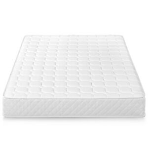 """Twin Size Bunk Bed 8"""" Inch Single Innerspring Mattress Foam Steel Coils Quilted"""