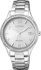 CITIZEN EO1180-82A Eco-Drive Ladies Solar Crystal Watch Silver RRP $399.00