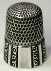 Antique Simons Bros Sterling Silver Thimble  Fluted Octagon    GAP  Mngm C1890s