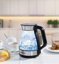 Illuminating LED Glass Kettle with 360 Degree Rotational Base, 3000W, 1.7 liter