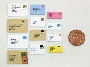 Dolls House Miniature 12 Addressed Envelopes (DD248) Additional Items P&P FREE