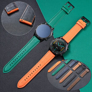 Luxury Leather Wrist Band Strap For Samsung Gear S3 Frontier Active 2 44mm 40mm