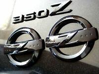 GLOSS BLACK 350Z Z LOGO EMBLEM BADGE SET KIT FAIRLADY 350 BODYKIT
