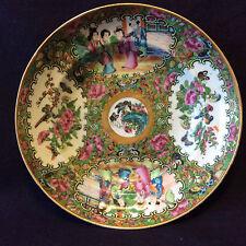 Chine canton plat famille rose dynastie Qing China XVIIIe ou XIXe ZHONGGUO