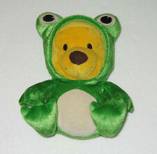 New Disney WINNIE THE POOH Pooh Baby Plush w/Frog Suits Figure Doll Baby Toys