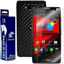 ArmorSuit MilitaryShield Motorola Droid Razr Maxx HD Screen + Black Carbon Skin