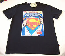 Superman Man Of Steel #1 Comic Cover Mens Black Printed T Shirt Size XXS New