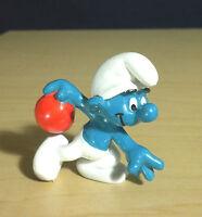 Smurfs 20051 Bowler Smurf Bowling Figure Vintage PVC Toy Schleich Lot Figurine