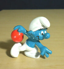 Smurfs 20051 Bowler Smurf Bowling Figure Vintage PVC Toy Schleich Lot Figurine
