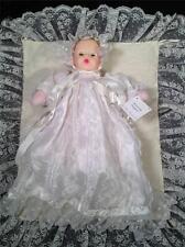 "Madame Alexander Huggums Long Lace Christening Dress Celebration Baby Doll 12"""