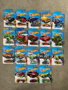 Hot Wheels Bundle Job Lot of 18 Vehicles - New on Cards - Joblot 5 - Long Cards