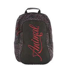 ANIMAL WOMENS/GIRLS RUCKSACK.BRIGHT BLACK BACKPACK BAG.SCHOOL/UNI 20L 7W 302 F92
