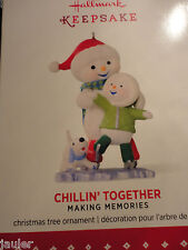 2015 Hallmark CHILLIN' TOGETHER #8 in Making Memories Ice Skating Snowman NEW