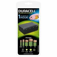 Duracell Hi-Speed 1 Ore Multicharger x Aa AAA C D & 9v Batterie Ricaricabili