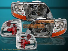 01-03 FORD F150 SVT SUPERCREW HEADLIGHTS + CORNER LIGHTS +TAIL LIGHTS
