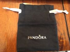 "Pandora anti tarnish Black Pouch Rose Gold letters Gift Bag  3"" x  4"" NEW"