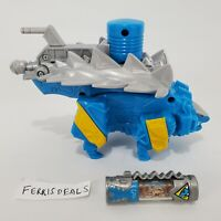 Power Rangers Dino Super Charge ANKYLO Zord Ankylosaurus WITH Charger Blue