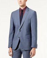 $1055 HUGO BOSS Men's SLIM FIT WOOL SUIT BLUE SOLID SPORT COAT BLAZER JACKET 40R