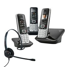 Cordless Phone Gigaset S850A 3 Handsets w Answer Machine and Corded Headset  DEC