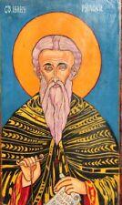 VINTAGE ORTHODOX HAND PAINTED ICON SAINT JOHN OF RILA