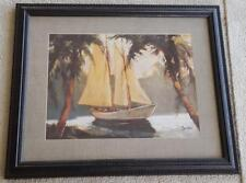 Vintage Framed Print - Signed Pamela - VGC - BEAUTIFUL PRINT - GREAT SAILBOAT