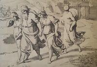 19th c. Lithograph After Raphael, Genesis C XIX, Vatican Fresco, Old Testament