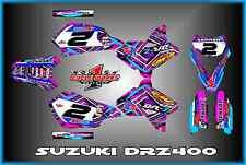 Suzuki DRZ400 DRZ 400  SEMI CUSTOM GRAPHICS KIT PINK BOOB1
