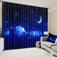 Night Starry Sky Window Curtains Bedroom Dorm Home Curatains Window Drapes Decor