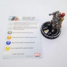Heroclix Iron Man 3 Movie set Iron Man and War Machine #018 Chase figure w/card
