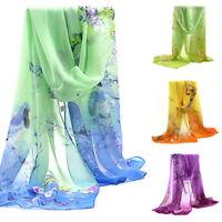 Women Printed Chiffon Scarf Long Scarves Shawls Wraps Casual Gift Decor