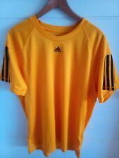 Adidas Climalite Sport T.Shirt Size Large Orange Running Marathon Cycling Sport