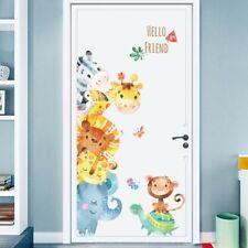 Cartoon Animals Deer Removable Wall Decal Stickers Kids Baby Nursery Home Decor
