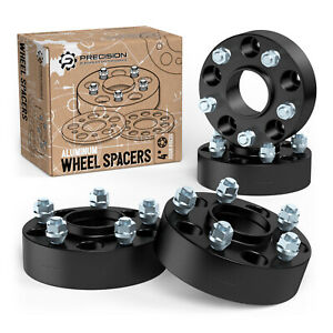 """4pc 50mm (2"""") Black 5x114.3 Hubcentric Wheel Spacers for Nissan Infiniti (66.1)"""