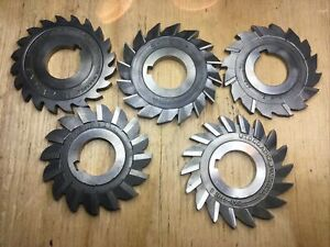 5 HSS HS STRAIGHT TOOTH MILLING CUTTERS HORIZONTAL MILL TOOLING