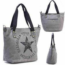 Stern Damen Handtasche Schulter Tasche Canvas Shopper Vintage Umhängetasche DE