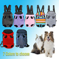 Pet Carrier Backpack Adjustable Cat Dog Pet Front Carrier Legs Out Travel Bag ne