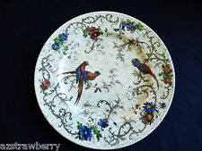 Antique English Cauldron Hand Painted Porcelain Birds of Paradise Plate 9.5""