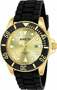 Invicta Women's 'Pro Diver' Quartz Stainless Steel and Silicone Watch 90302