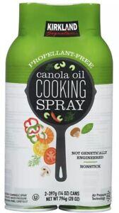 Kirkland Signature Canola Oil Cooking Spray Net 28 oz 2 pack