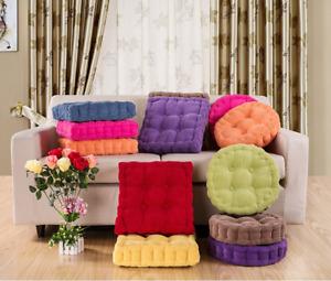 Cotton Chunky Booster Cushion Sofa Thick Seat Pads Chair Armchair Cushion Mat