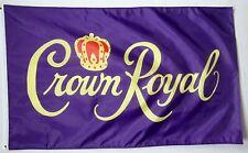 3x5FT Crown Royal Canadian Whiskey Flag Bar Restaurant Man Cave Garage Dorm Frat