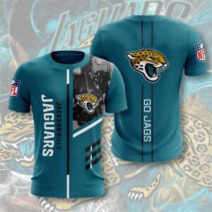 Jacksonville Jaguars Men Summer T-shirts Short Sleeve Sportswear Top Tees S-5XL