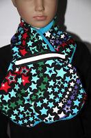 Sterne -Schal - Fleece. 4 - 10 Jahre - Jungen - mit reflektierenden Band DaWanda
