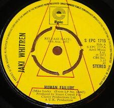 "JAKI WHITREN ~ HUMAN FAILURE b/w AIN'T IT FUNNY ~ UK EPIC DEMO 7"" 1973"