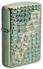 Zippo Armor Windproof Deep Carved Chameleon Lighter With Logo, 29525, New In Box